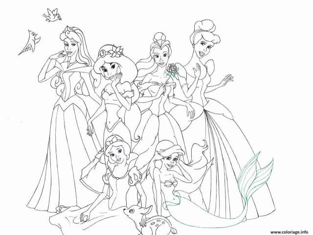 Coloriage La Belle Au Bois Dormant Disney Princesse 12 Dessin La