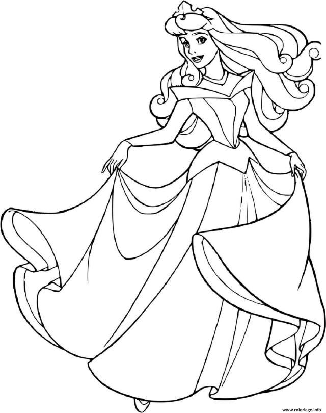 Coloriage La Belle Au Bois Dormant Princesse 27 Dessin La Belle Au