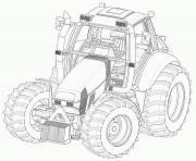coloriage tracteur dessin tracteur