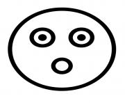 coloriage emoji sourirey with fear colorear coloriage flashed