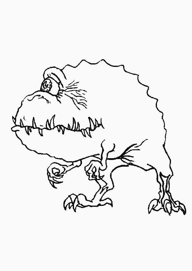 Monstre Qui Fait Peur Dessin : monstre, dessin, Coloriage, Monstre, Personnage