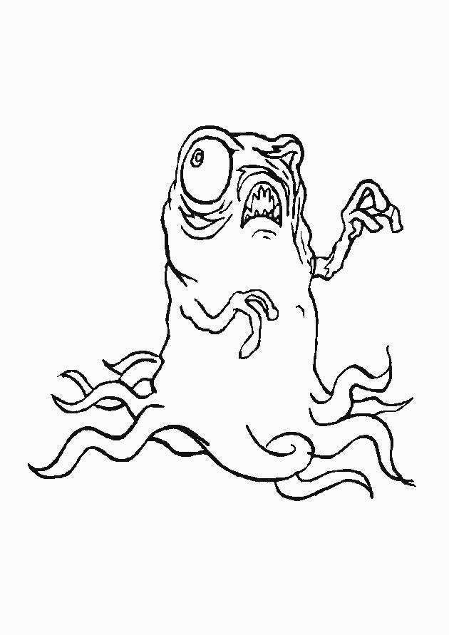 Monstre Qui Fait Peur Dessin : monstre, dessin, Coloriage, Monstre, Dessin, Gratuit, Imprimer