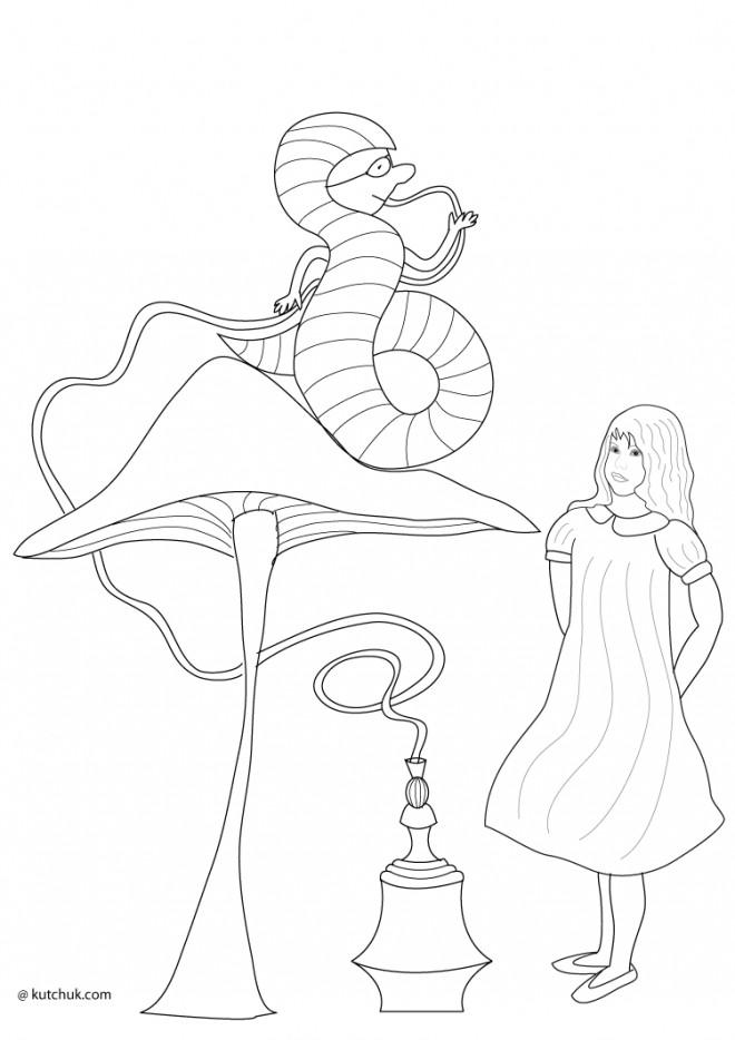 Dessin Alice Au Pays Des Merveilles Facile : dessin, alice, merveilles, facile, Coloriage, Alice, Merveilles, Facile, Dessin, Gratuit, Imprimer