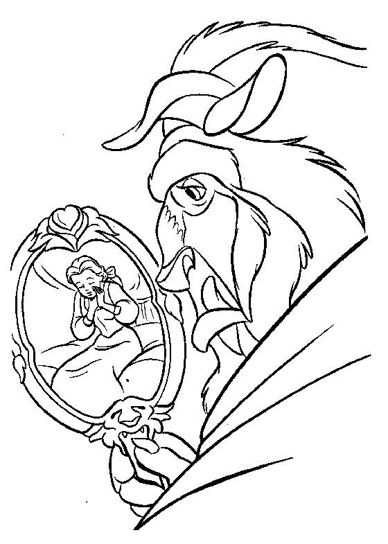 La Belle Et La Bete Dessin Facile : belle, dessin, facile, Coloriage, Belle, Bête, Simple, Dessin, Gratuit, Imprimer