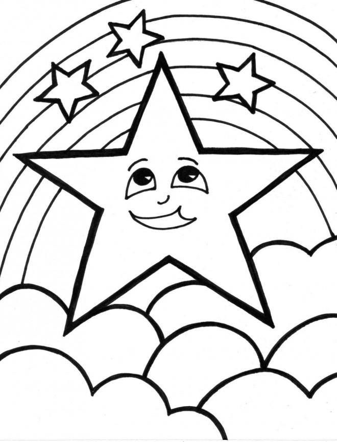 Arc En Ciel à Colorier : colorier, Coloriage, Étoile, Dessin, Gratuit, Imprimer