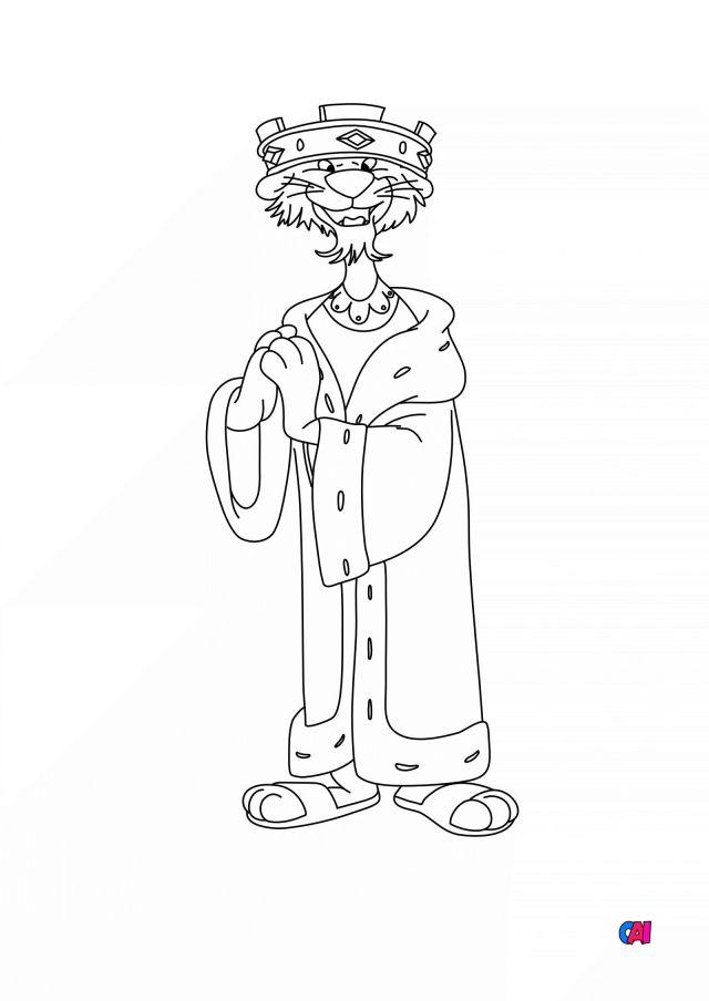 Coloriage Robin des Bois à imprimer - Prince Jean