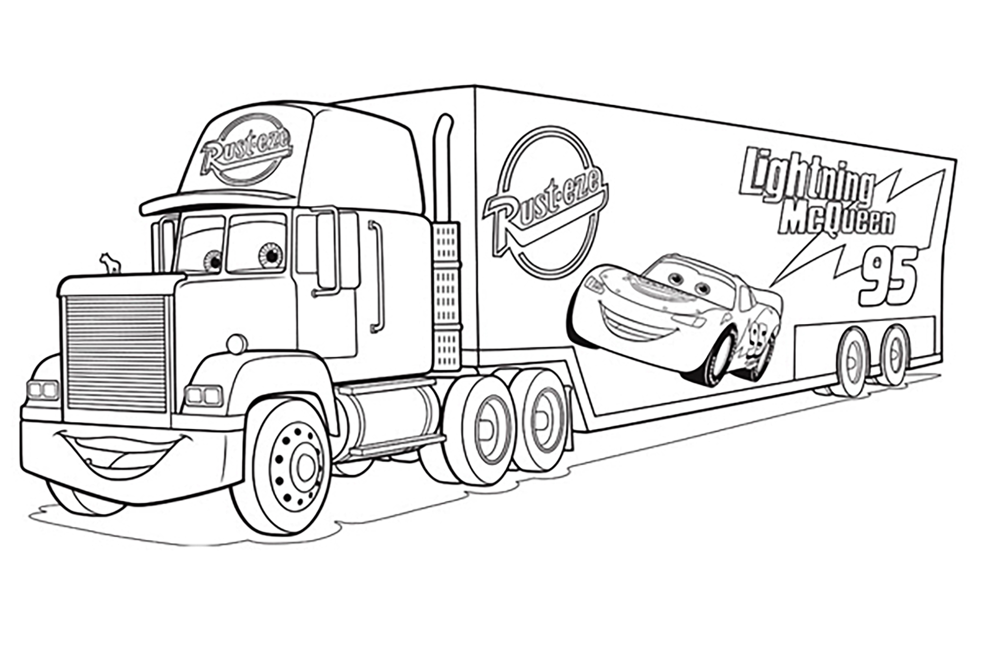 Cars 3 Lightning Mcqueen Coloring Page Cars 2 8 Coloriage Cars 2