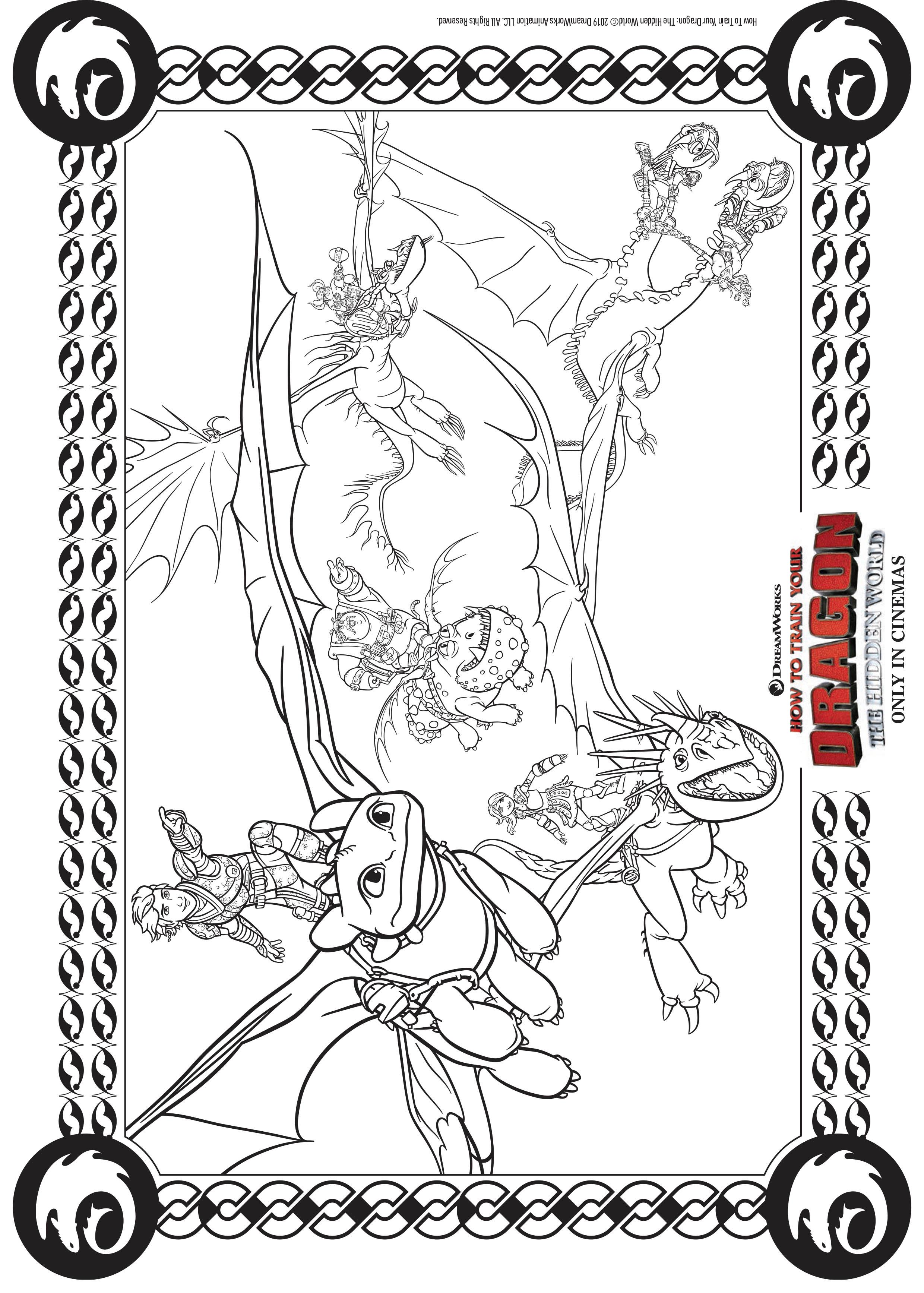 Coloriage Krokmou Dragon à imprimer
