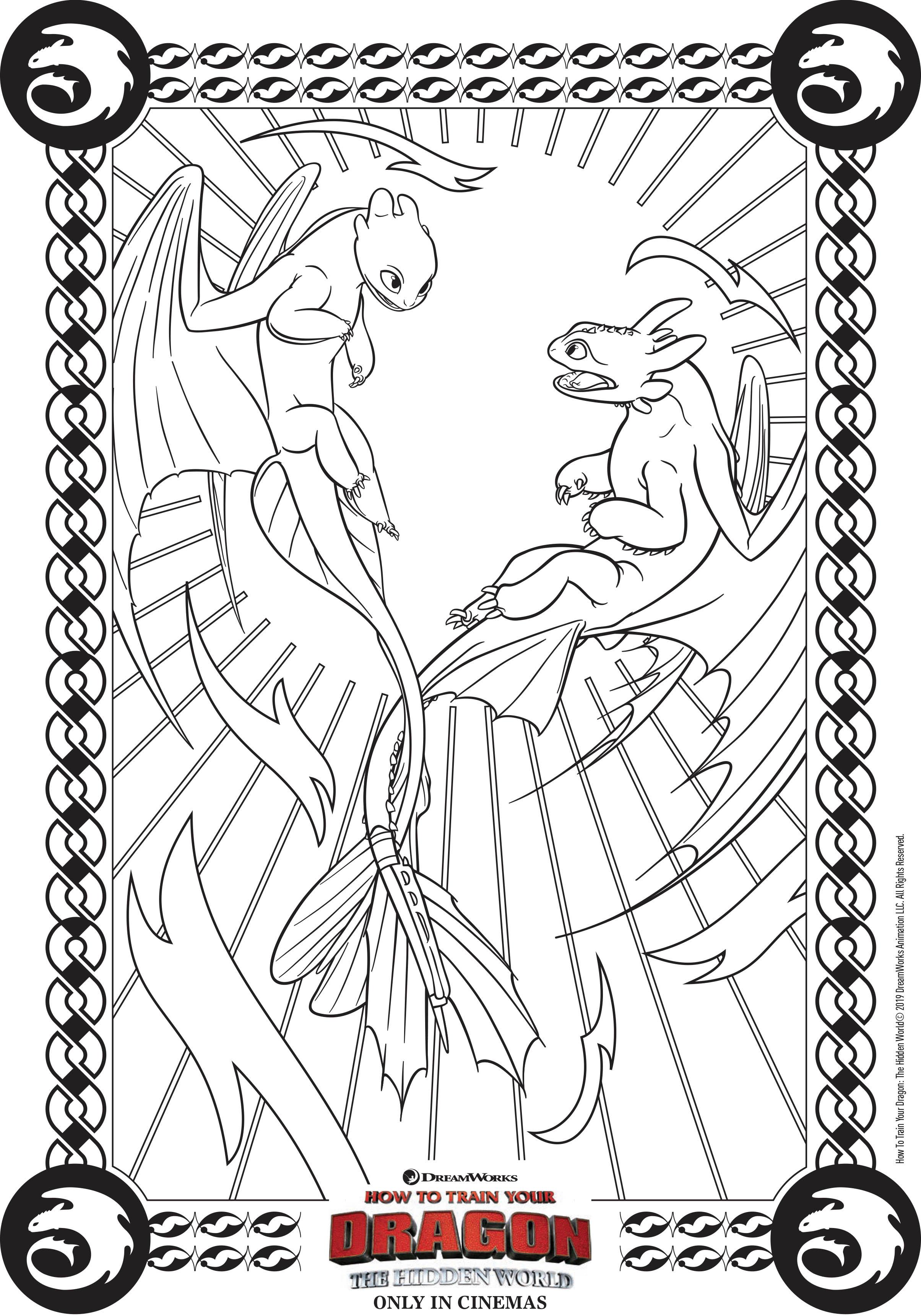 Coloriage Dragon 3 A Imprimer : coloriage, dragon, imprimer, Dragons, Amoureux, Coloriage, Coloriages, Enfants