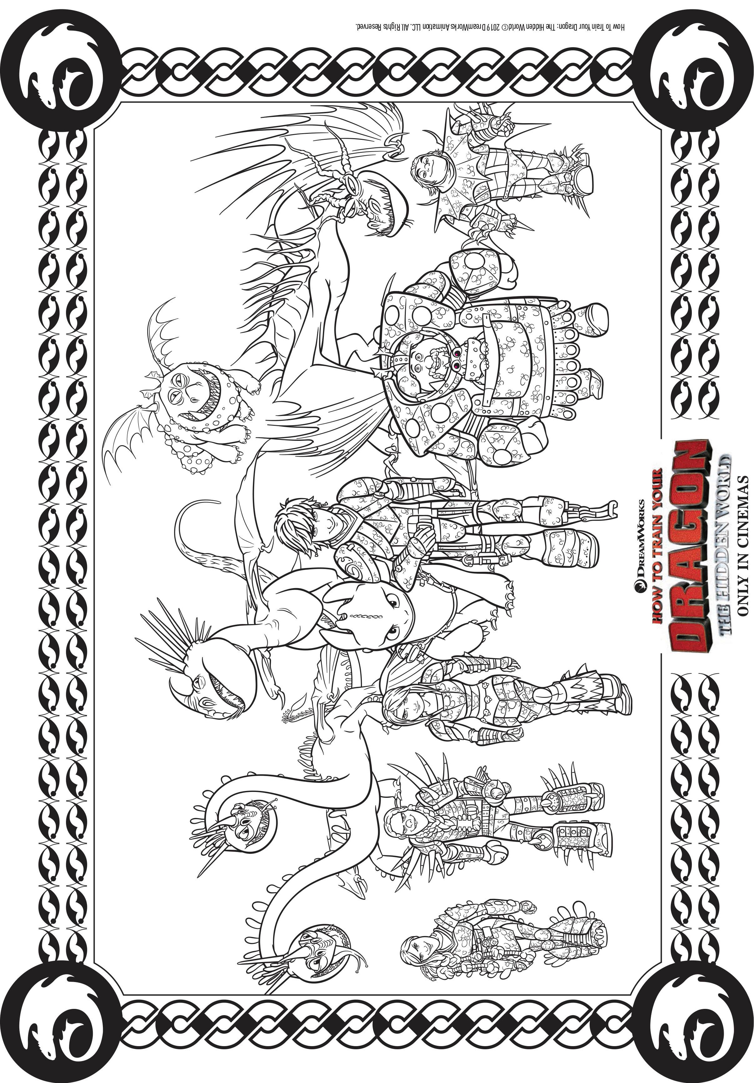 Coloriage Dragon 3 A Imprimer : coloriage, dragon, imprimer, Personnages, Dragons, Coloriage, Coloriages, Enfants