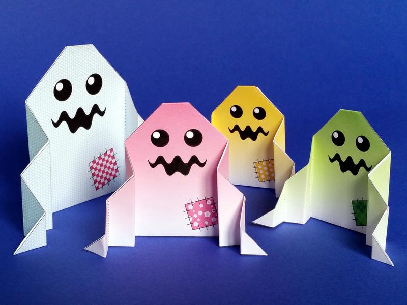 origami halloween fantomes