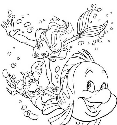 30 Desenhos da Ariel em Português para Imprimir e Colorir