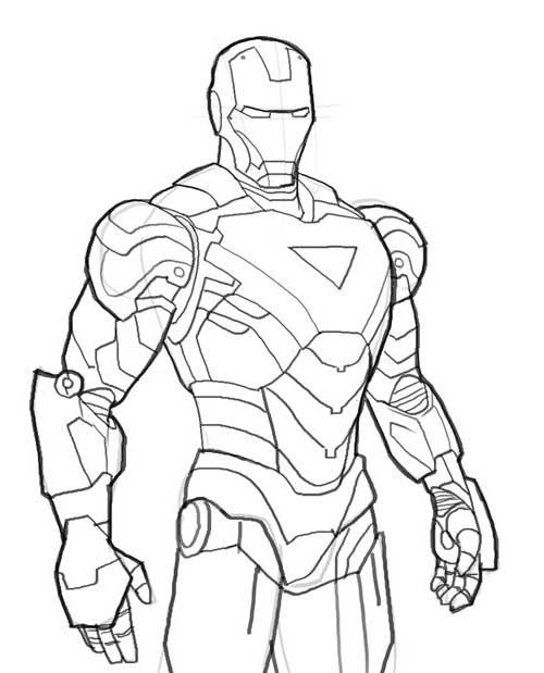 20 Desenhos do Homem de Ferro para Pintar em Casa!