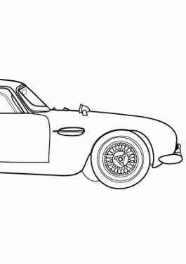 Aston martin DB5 coloring page Archives » Coloring-4kids.com