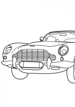 james Bond car coloring page Archives » Coloring-4kids.com