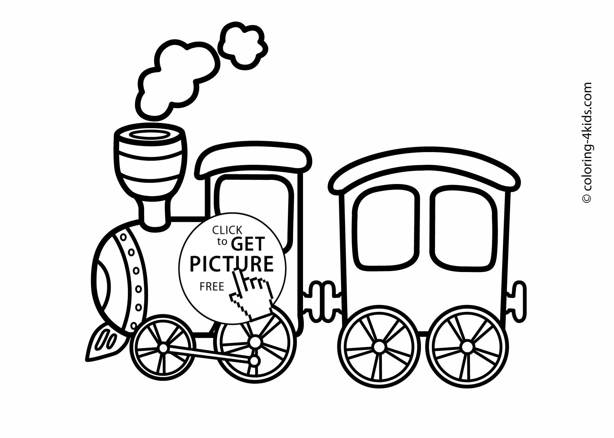 Train Transportation Coloring Pages For Kids Printable