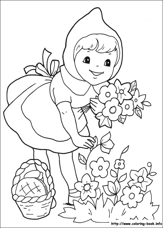 Little Red Riding Hood Coloring Page : little, riding, coloring, Little, Riding, Coloring, Picture