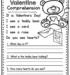 1st Grade English Worksheets Valentine - Free Coloring Library [ 1024 x 794 Pixel ]