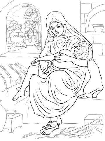 Elisha Said to the Woman with Son to Go Away from a Famine