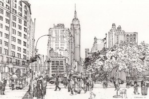 coloring york manhattan drawings midtown pages deviantart skyline urban buildings adult depicted lives drawing broadway sketch books anti sketches therapy