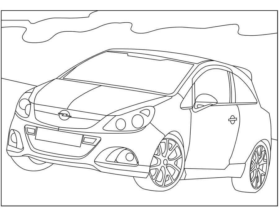 Opel Coloring pages 🖌 to print and color