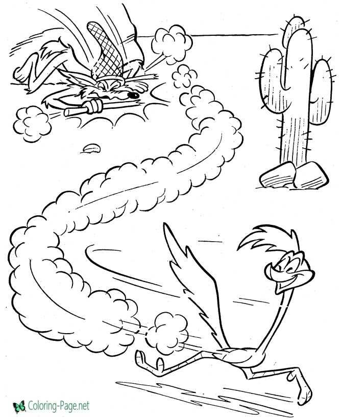 Road Runner Coloring Pages : runner, coloring, pages, Bunny, Coloring, Pages