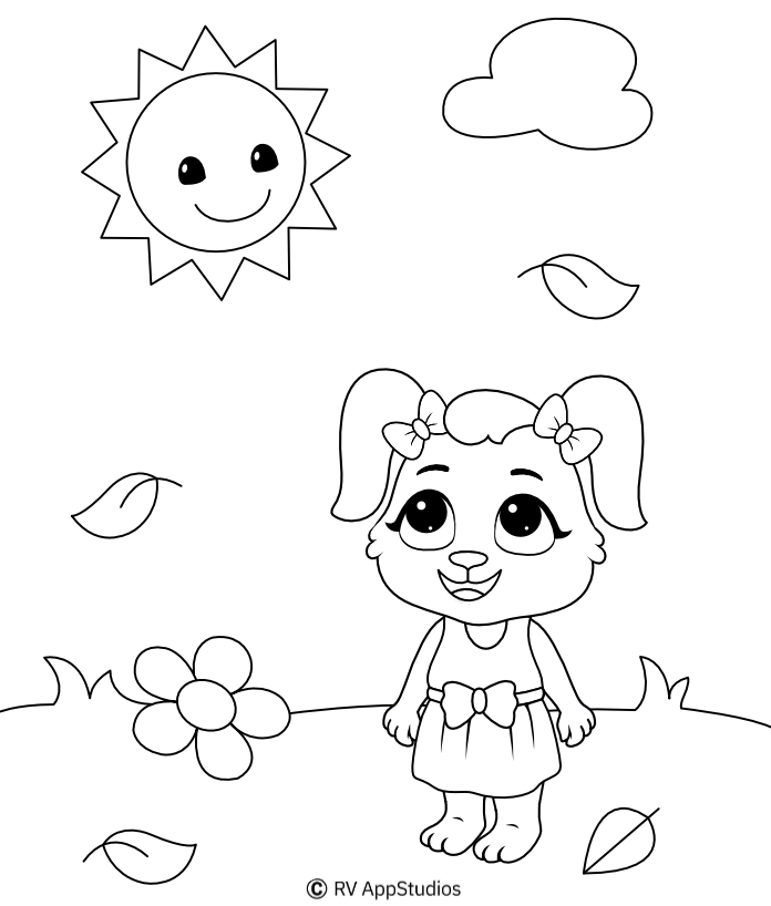 Sun Coloring Pages For Kids