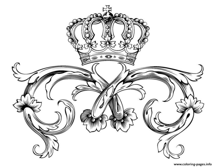 adult symbol royal crowndl1on coloring pages printable