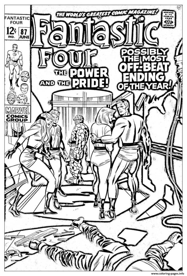fantastic four coloring pages # 20