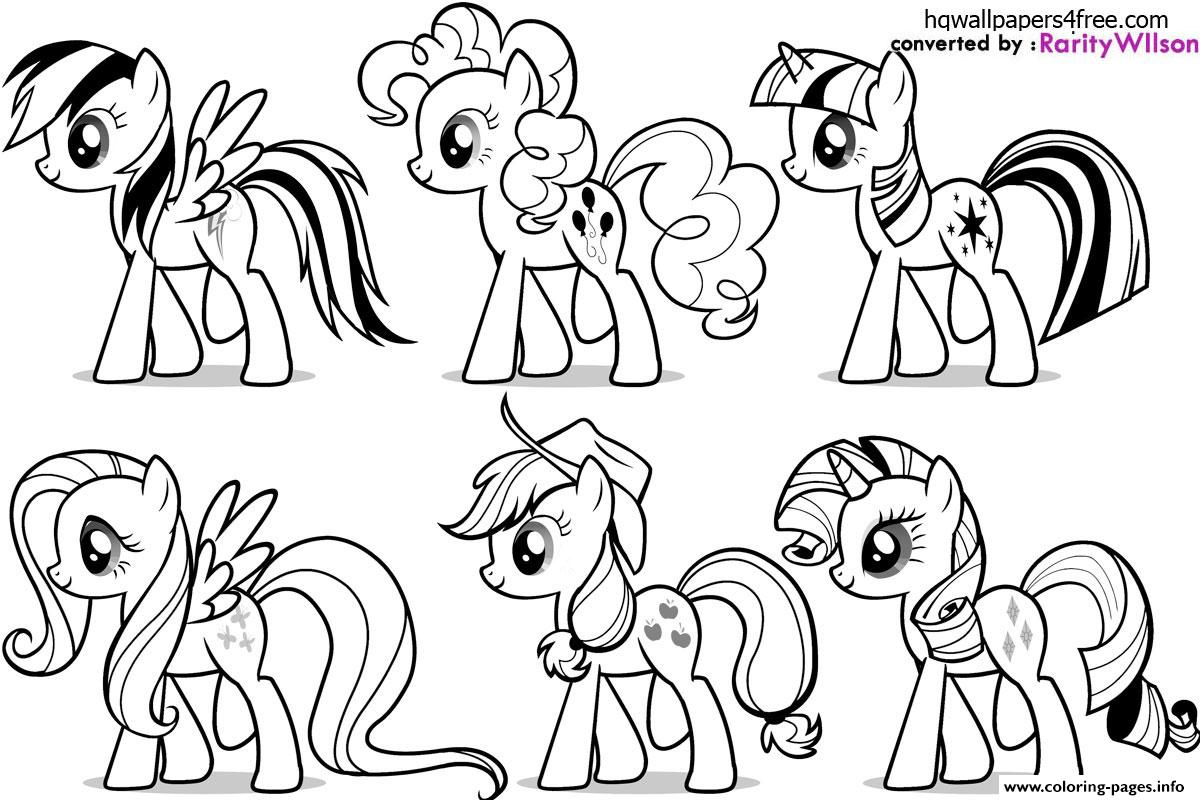 My Little Pony Fluttershy Rarity Pinkie Pie Rainbow Dash Coloring