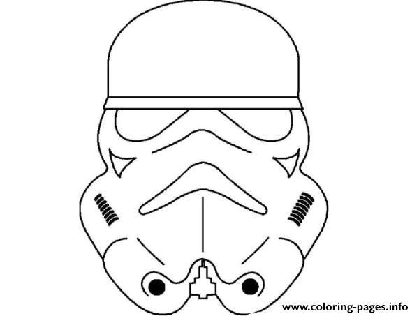 Star Wars Masks Coloring Pages Printable