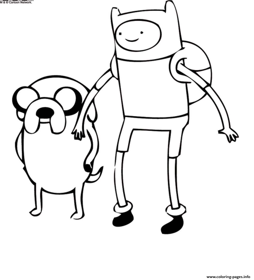 Cartoon Adventure Time S6365 Coloring Pages Printable