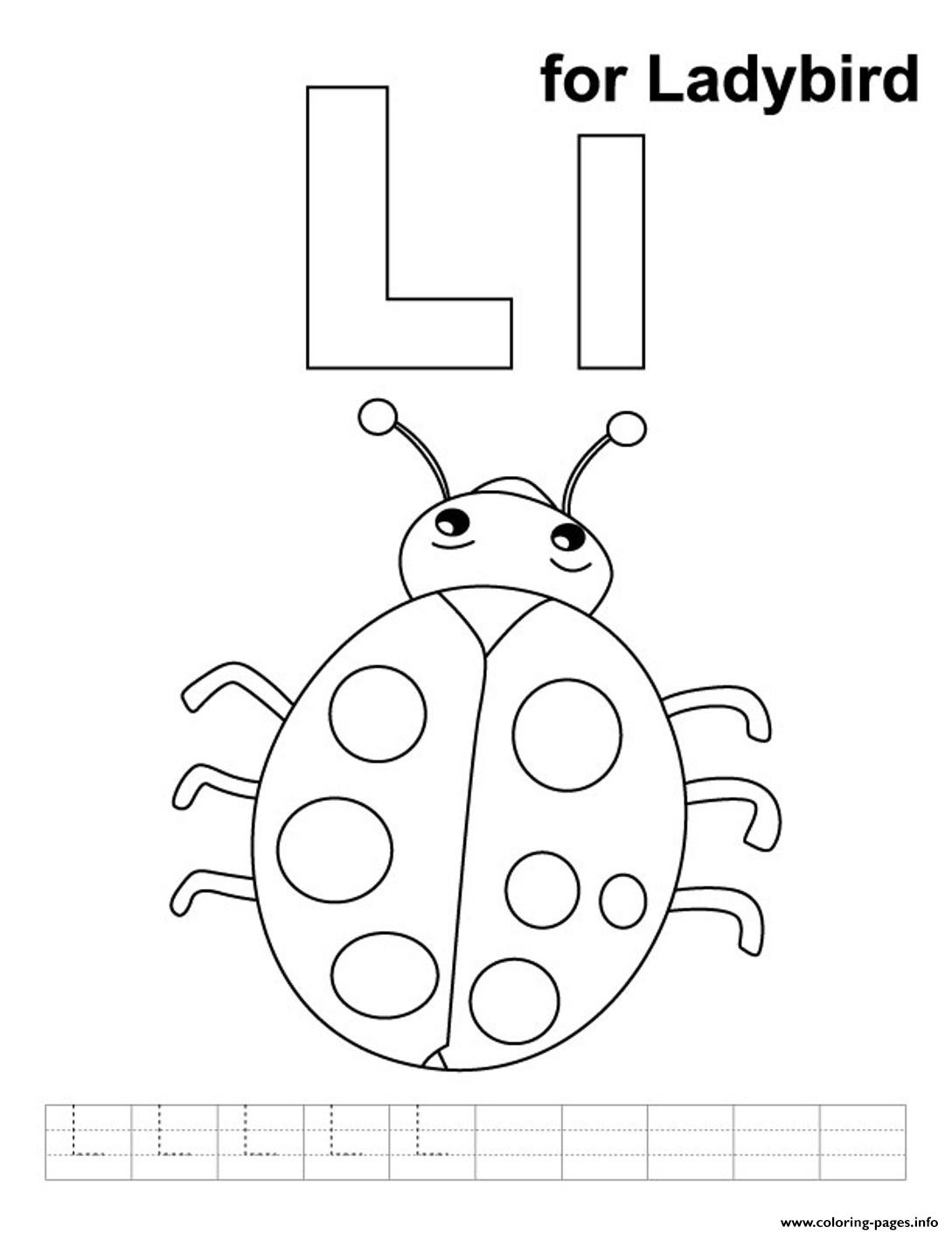 Ladybug Page Letter L Coloring Pages