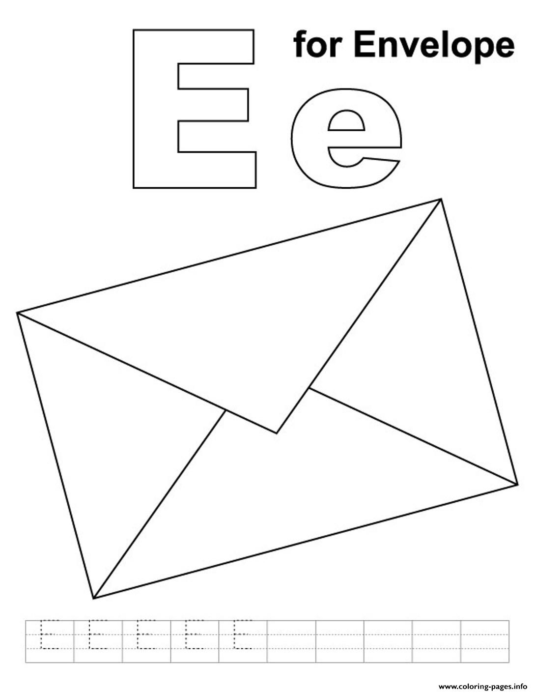 E For Envelope Alphabet S Freecc85 Coloring Pages Printable