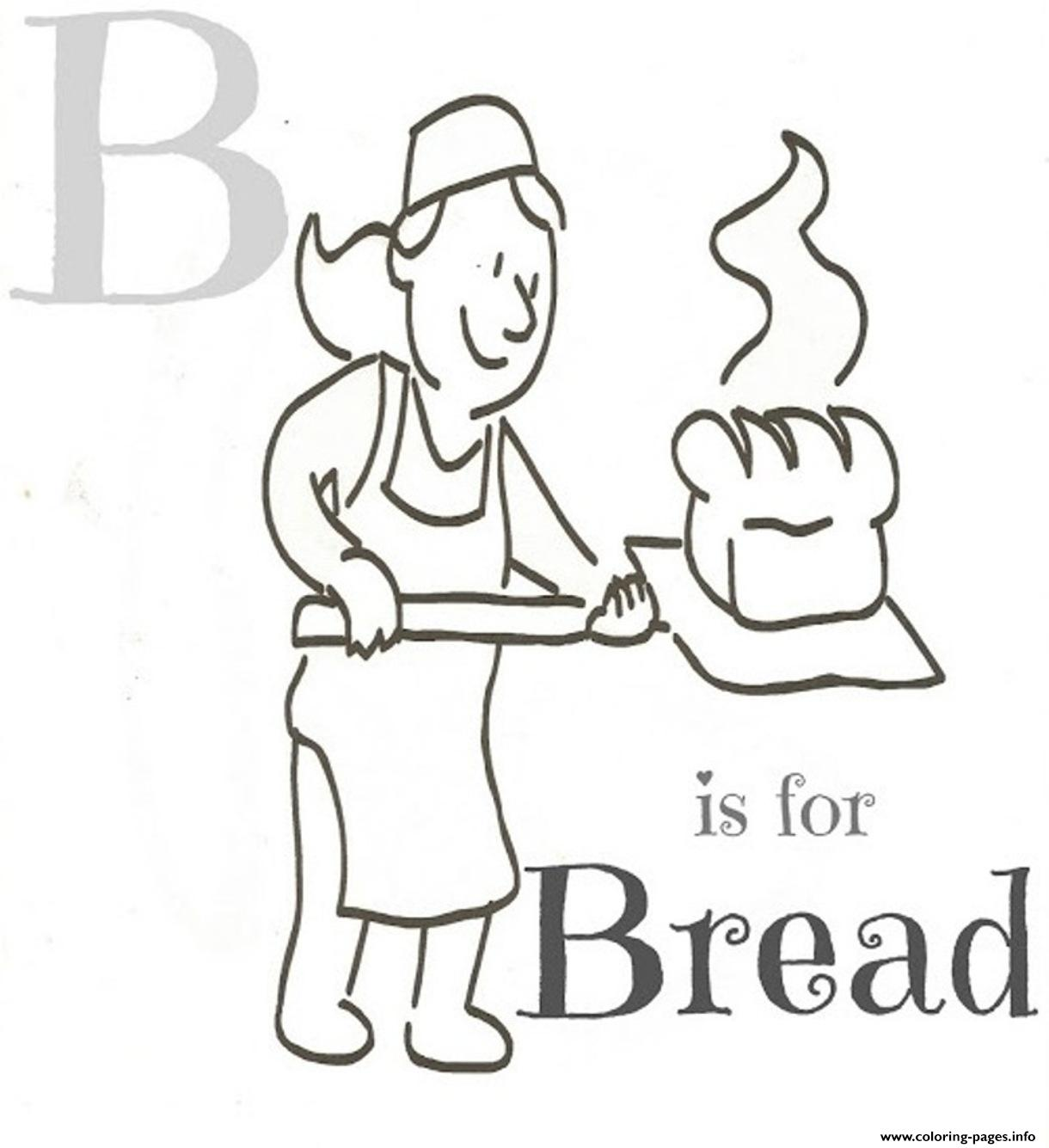 Alphabet S B Is For Breadfe57 Coloring Pages Printable