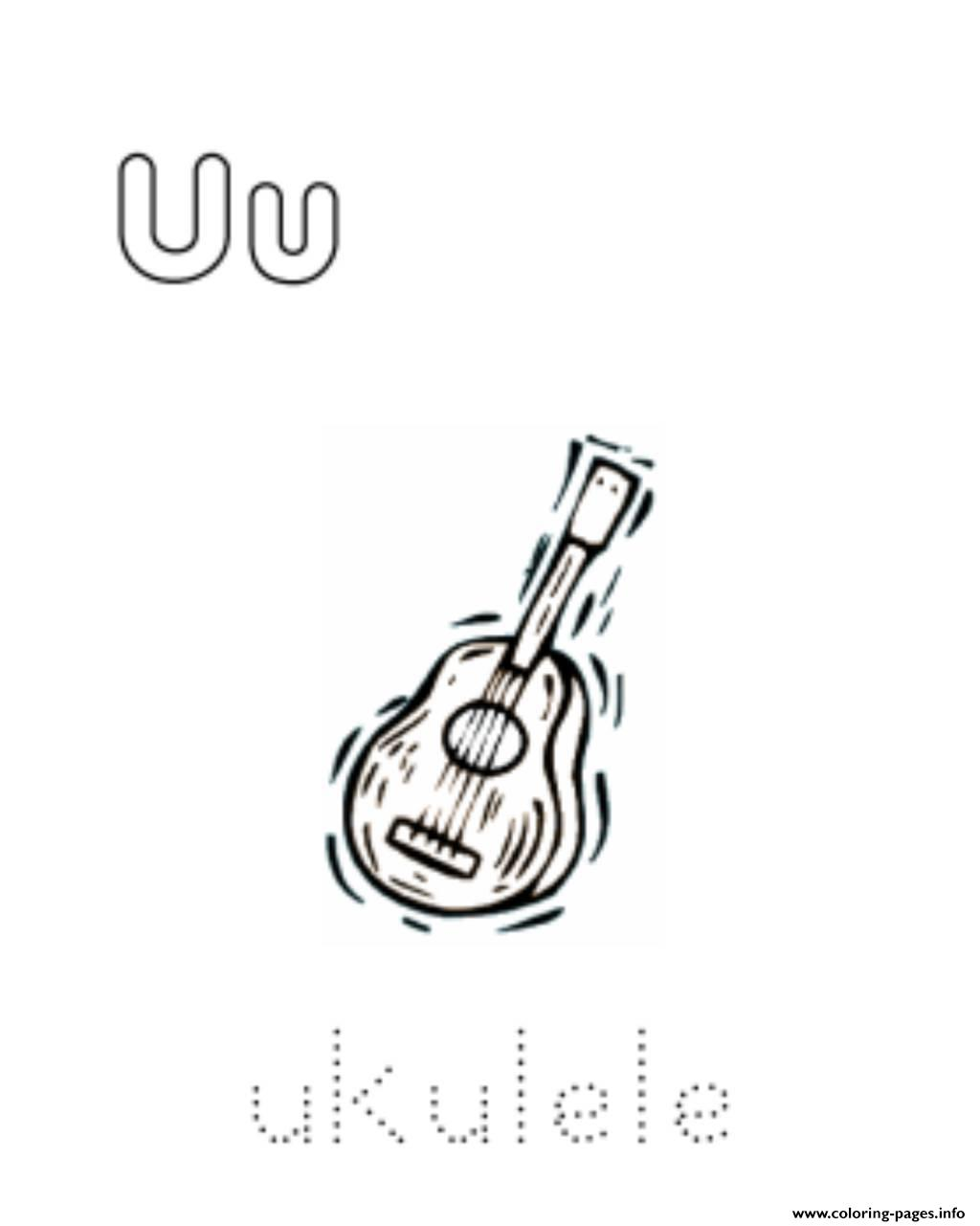 Ukulele Alphabet S Free8a23 Coloring Pages Printable
