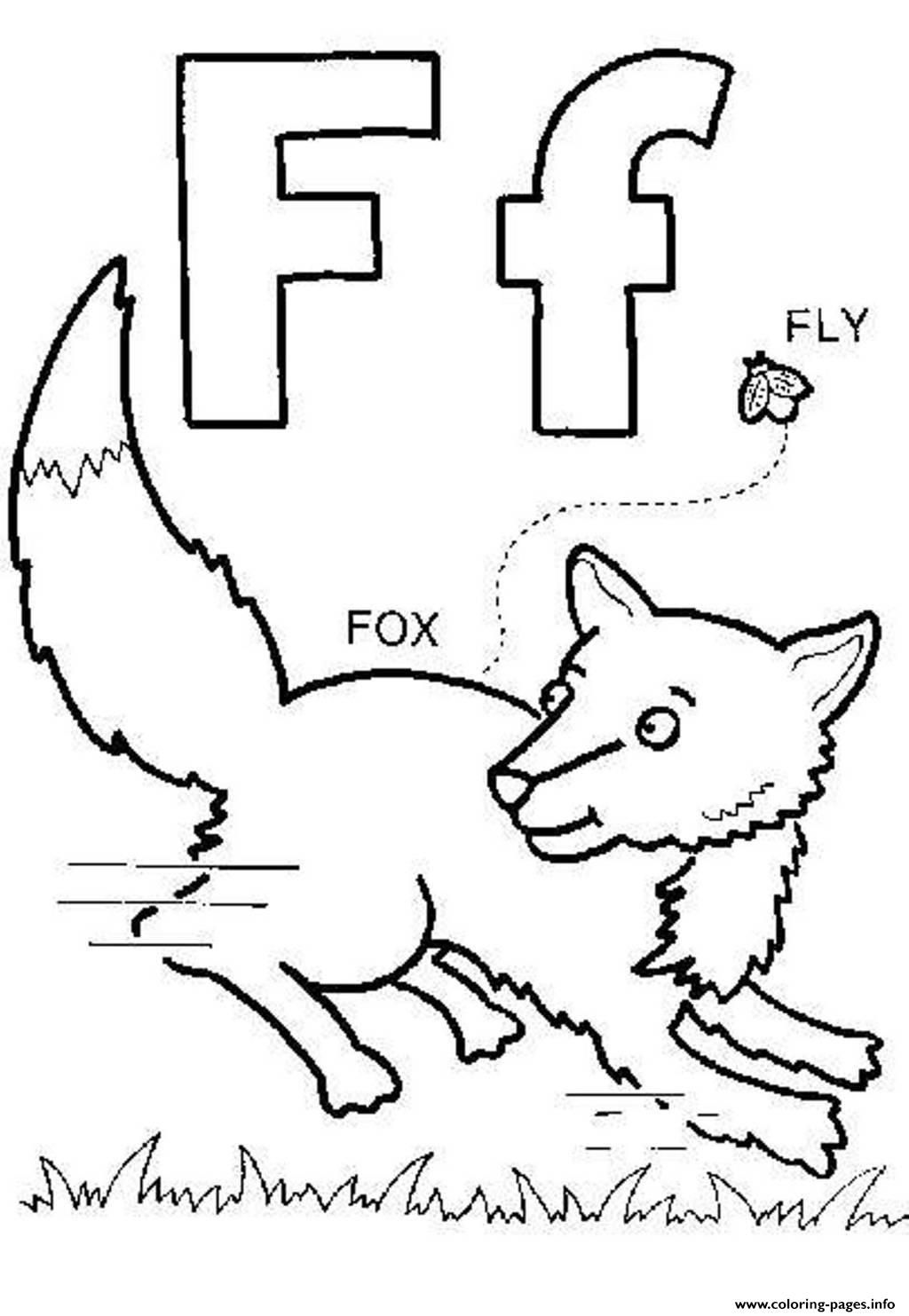 Fox And Fly Free Alphabet Scbf0 Coloring Pages Printable