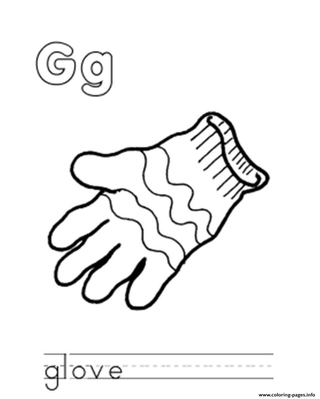 Glove S Alphabet Ge149 Coloring Pages Printable