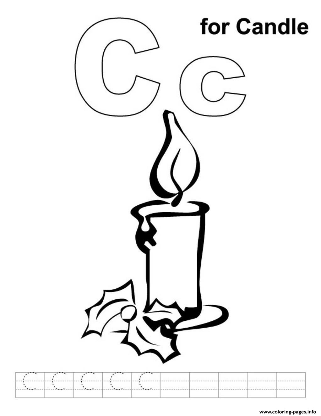 C For Candle S Alphabet3958 Coloring Pages Printable