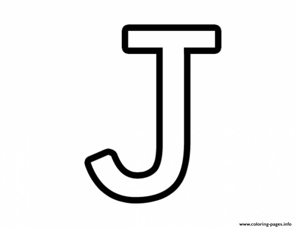 Letter J Free Alphabet 651a Coloring Pages Printable
