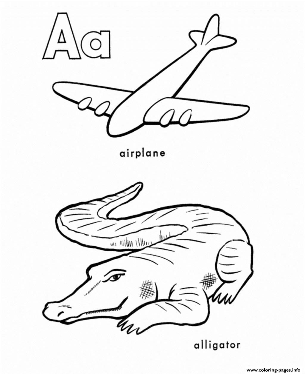 Alphabet S Printable A Is For Airplane And Alligator16e3 Coloring Pages Printable