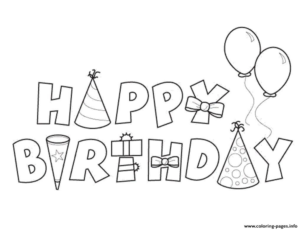 Happy Birthday Alphabet050e Coloring Pages Printable