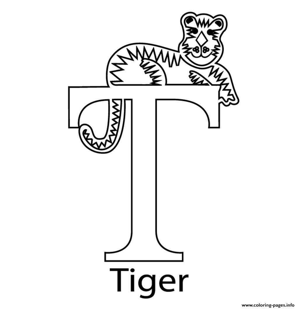 Tiger Alphabet 7f14 Coloring Pages Printable