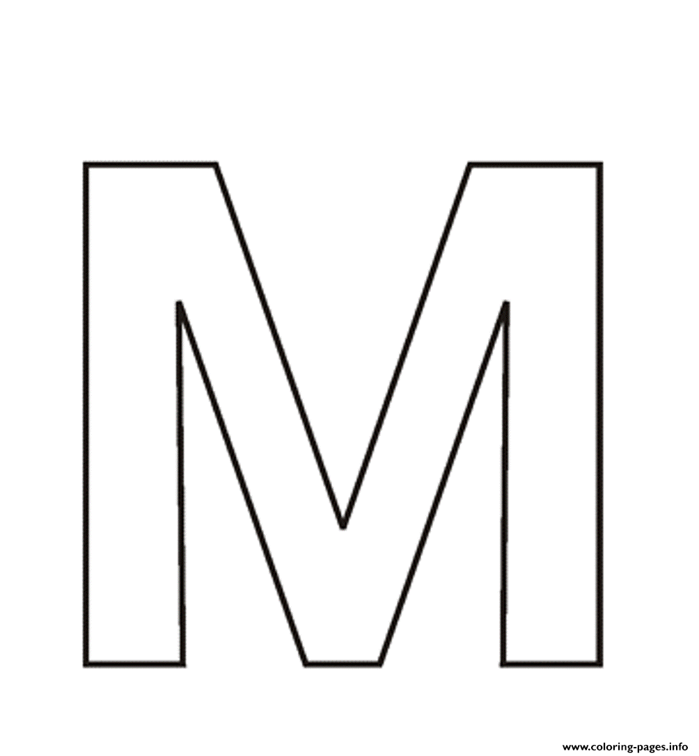 Letter M Free Alphabet S3713 Coloring Pages Printable