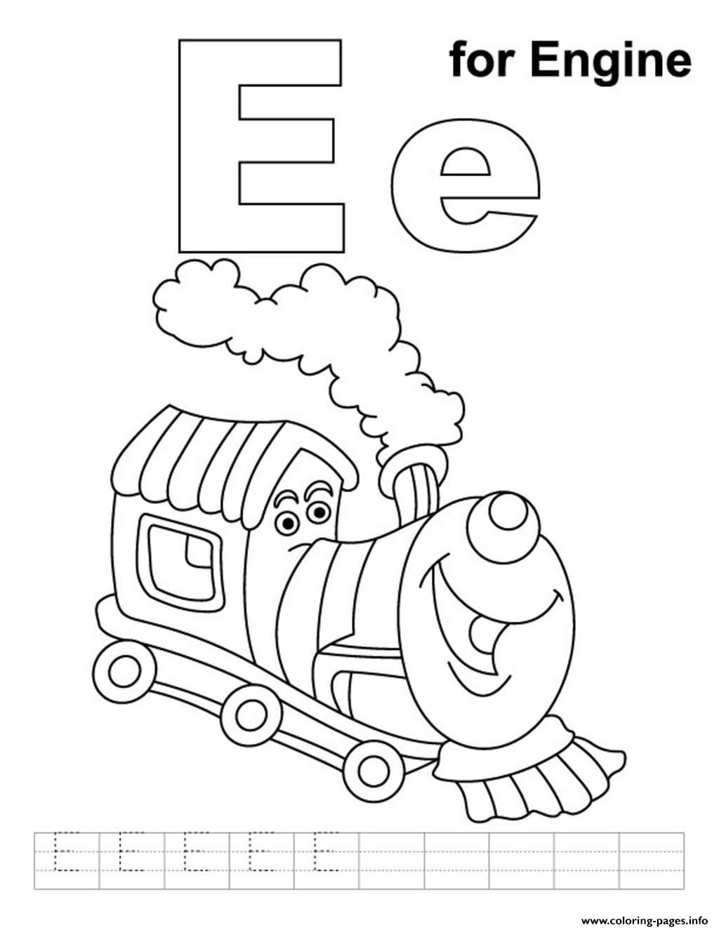 Engine Alphabet S Free762d Coloring Pages Printable
