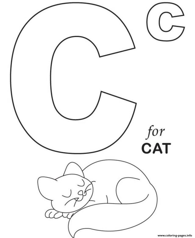 Printable C For Cat S Alphabetb17 Coloring Pages Printable