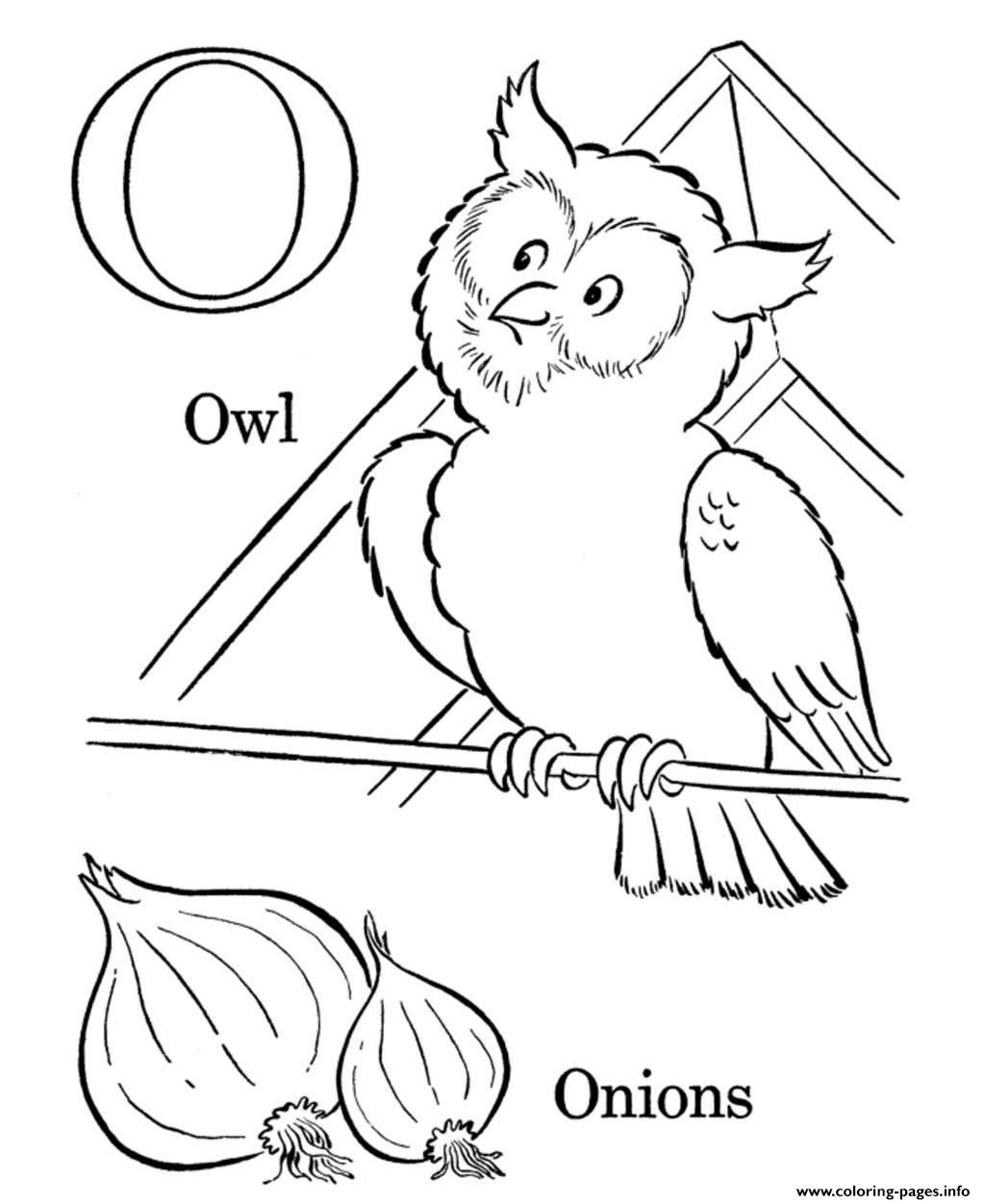 Onions And Owl Alphabet S3989 Coloring Pages Printable