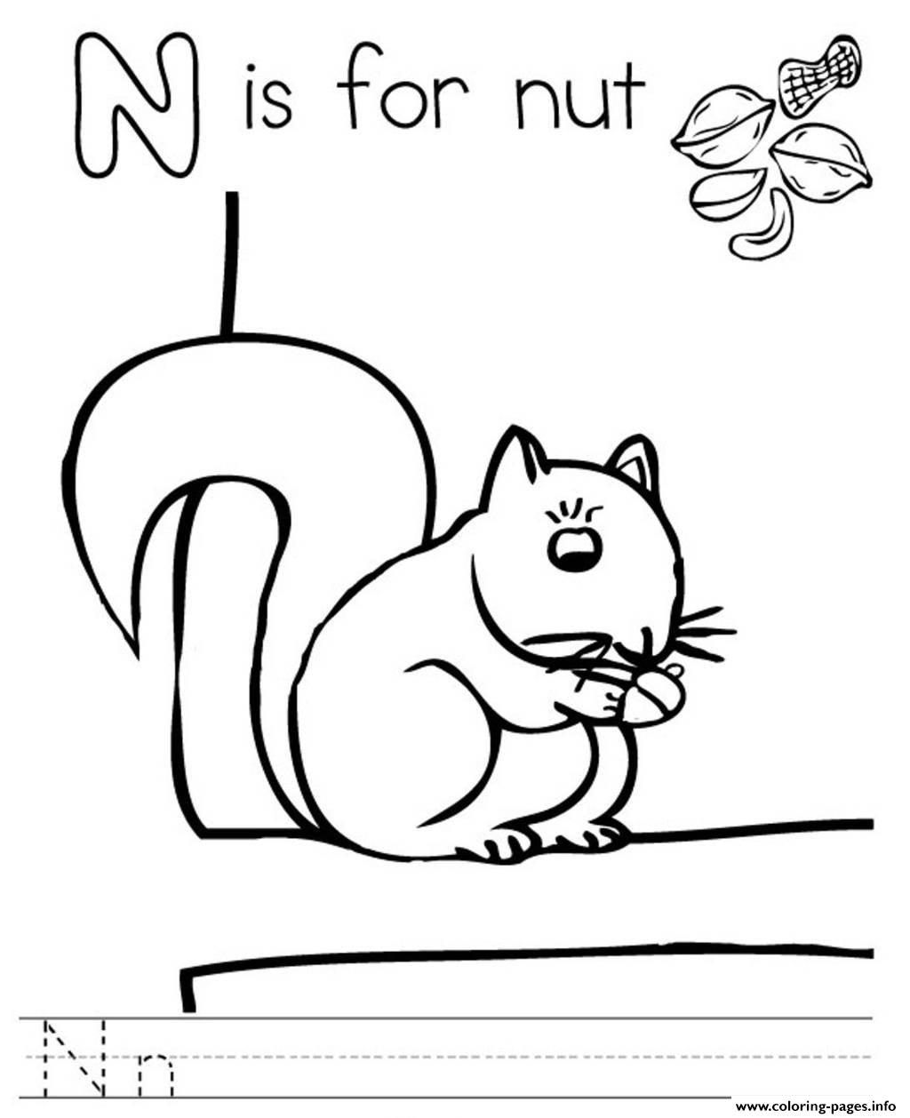Nuts Coloring Coloring Pages