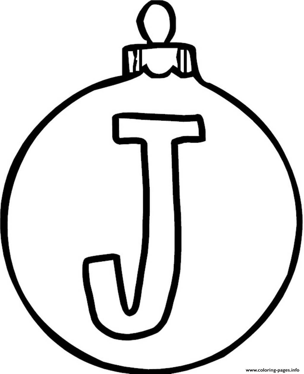 Ornament J Alphabet 1c16 Coloring Pages Printable
