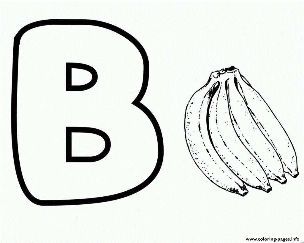 Alphabet S Bananac36c Coloring Pages Printable